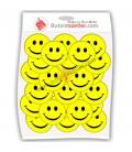Gülen Yüz Rozeti Sarı  44 mm  50 Li