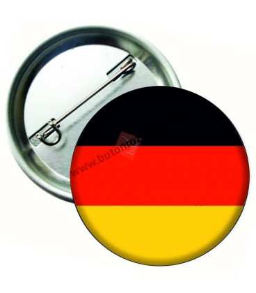 Almanya Bayrağı  İğneli Metal 58 mm Rozet