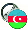 Azerbaycan  Bayrağı  İğneli Metal 58 mm Rozet