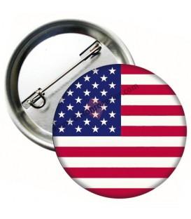 Amerika Birleşik Devletleri  Bayrağı  İğneli Metal 58 mm Rozet