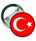 Türk  Bayrağı  İğneli Metal  44 mm Rozet