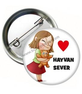 Hayvan Sever Rozeti 44 mm