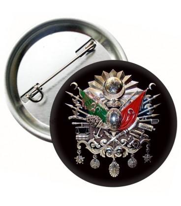 Osmanlı Tuğrası Rozeti 44 mm