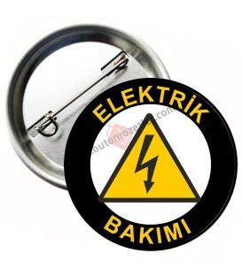 Elektrik Bakımı Personel Yaka Rozeti 58 mm
