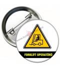 Forklift Operatörü Personel Rozeti 58 mm