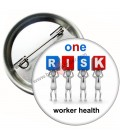 One Risk  Worker Healt   Temalı  Rozet