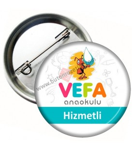 Hizmetli Personel Yaka Rozeti 44 mm