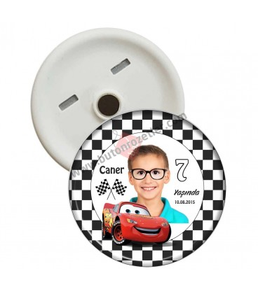 Araba Temalı 7 Yaş Doğum Günü Magnetleri