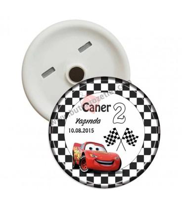 Araba Temalı 2 Yaş Doğum Günü Magnetleri