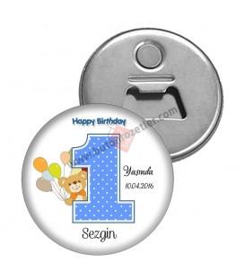 1 Yaş Erkek Happy Magnet Açacak Ayıcık Figürlü