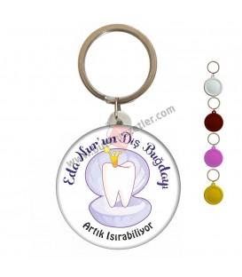 Diş Bugdayı İnci Figürlü Hatıra Anahtarlık
