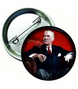 Atatürk Görselli Yaka Rozeti