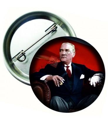 Mustafa Kemal Atatürk Yaka Rozeti 8