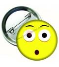 Şaşkın İfadeli  Emoji  Rozetler 44 mm