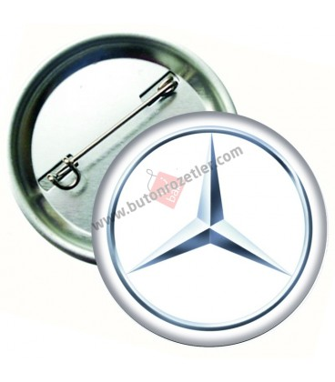 Mercedes Marka İğneli Aksesuar  Rozet 58 mm