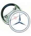 Mercedes Marka İğneli Aksesuar  Rozet 44 mm