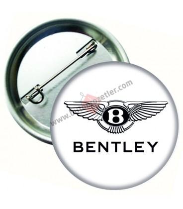Bentley Marka İğneli Aksesuar  Rozet 75 mm