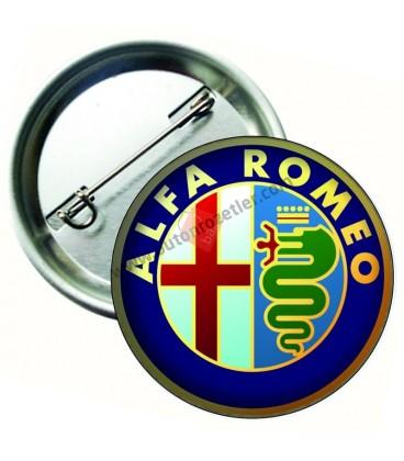 Alfa Romeo Marka İğneli Aksesuar  Rozet 75 mm