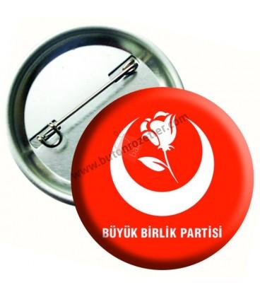 Büyük Birlik Partisi Logolu Yaka Rozeti