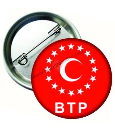 BTP Logolu İğneli Metal Yaka Rozeti 44 mm