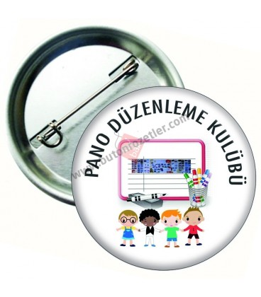 Pano Düzenleme Kulübü Yaka Rozeti 44 mm