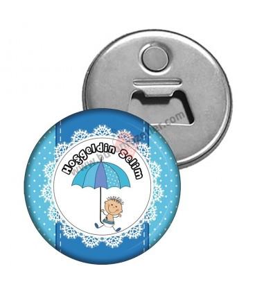 Hoş geldin Bebek   Magnet Açacak Şemsiye Figürlü