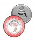 Hoş geldin Bebek Kız  Magnet Açacak Şemsiye Figürlü
