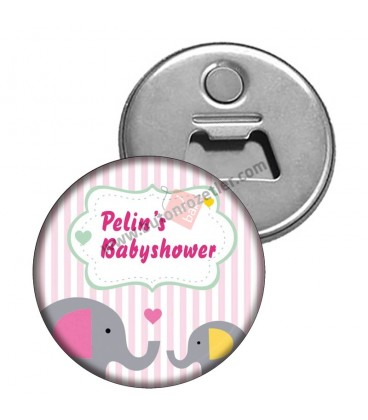 Babyshower's Fil Temalı Hediyelik Magnet Açacak