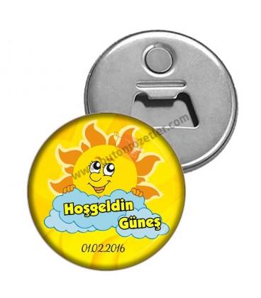 Güneş Temalı Hoş Geldin Güneş Magnet Açacak