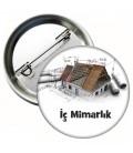 İç Mimarlık İğneli Rozet 44 mm