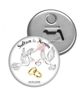 Nişan ve Nikah İçin Magnet Açacak Yüzük Figürlü