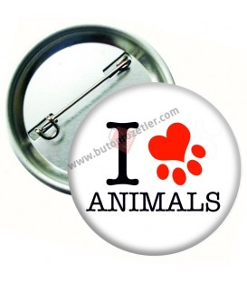I love Animals Hayvan Sevgisi Rozeti