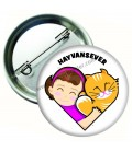 Hayvan sever Rozeti Kedi ve Kız