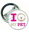 I Love My Pet Hayvan Sevgi Rozetleri