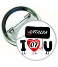 Antalya Plaka  Rozeti 44 mm