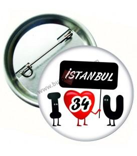 İstanbul  Plaka   Rozeti 44 mm