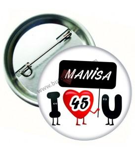 Manisa  Plaka  Rozeti 44 mm