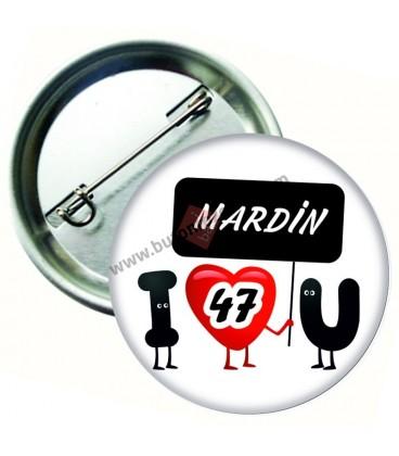 Mardin  Plaka  Rozeti 44 mm