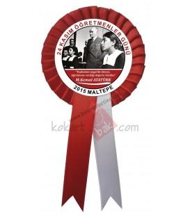 24 Kasım Öğretmenler M.Kemal Atatürk Görselli Kokart