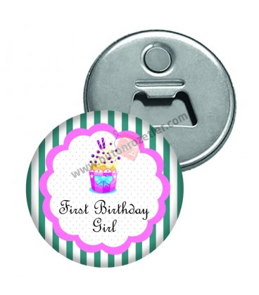 First Birthday Gril Magnet Açacak