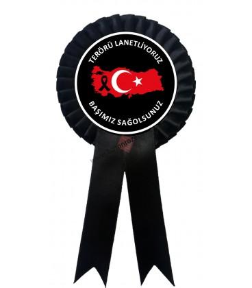 Terörü Lanetliyoruz Türkiye Görselli Kokart