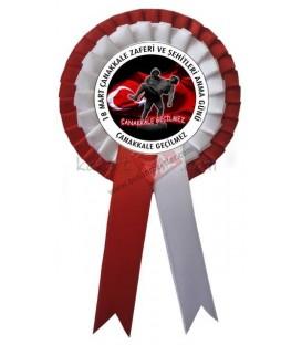 18 Mart Çanakkale Zaferi Çift Sıralı Kokart
