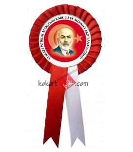 Mehmet Akifi Anma Program Saten Kokartı