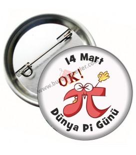 14 Mart Dünya Pi Günü Görselli Rozet