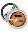 Hapy Pi Day Dilimli Rozet
