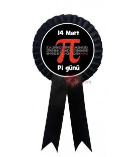 14 Mart Pi Günü Siyah Kokart