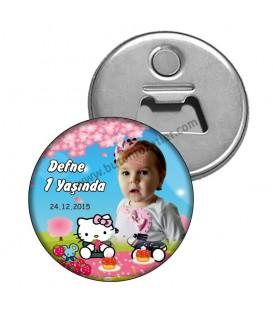 1 Yaş Hello Kitty Magnet  Açacak