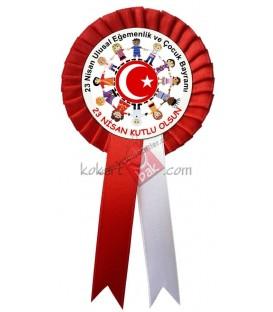 23 Nisan Ulusal Egemenlik ve Çocuk Bayramı Kumaş  Kokart