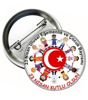 23 Nisan Ulusal Egemenlik ve Çocuk Bayramı Rozeti