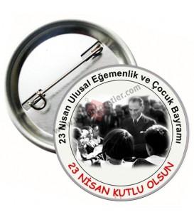 23 Nisan Atatürk  Görselli Rozetler